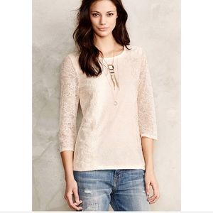 Anthropologie Sunday In Brooklyn Ardith Lace Top M